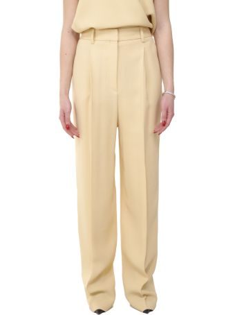 Theory Pale Yellow Trousers