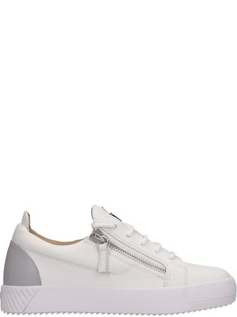Giuseppe Zanotti White Leather Frankie Sneakers