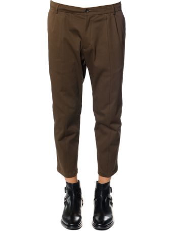 Low Brand Wool-cotton Blend Cropped Lenght Trousers