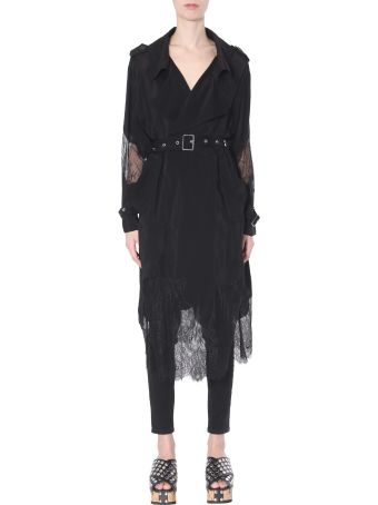 McQ Alexander McQueen Trench With Lace Inserts