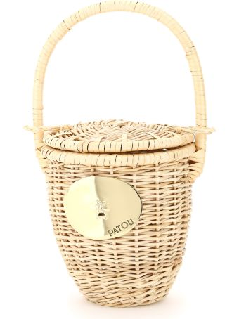 Patou Wicker Basket Bag