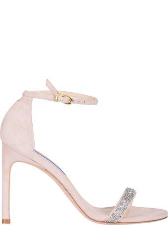 Stuart Weitzman Glitter Embellished Sandals