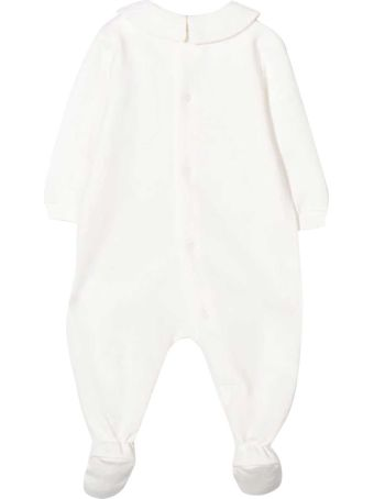 Moschino White Romper With Frontal Toy Press