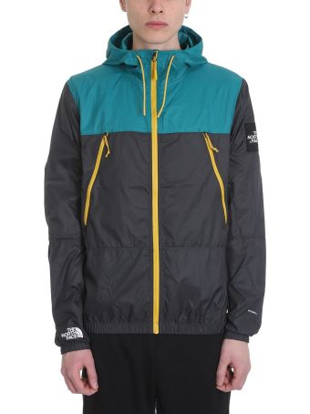 The North Face 1990 Se Mountain Grey And Green Technical Fabric Jacket