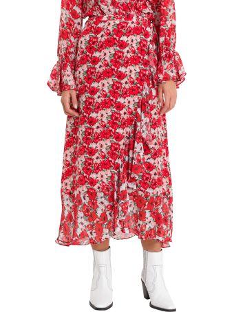 Rixo London Gracie Diana Wrap Skirt