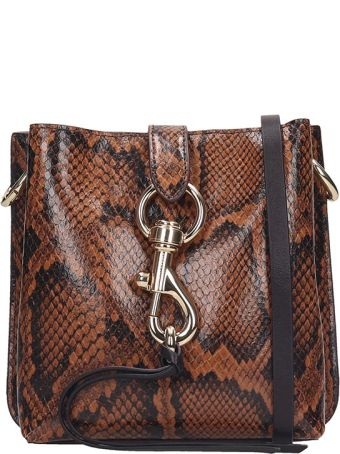 Rebecca Minkoff Mgan Shoulder Bag In Brown Leather