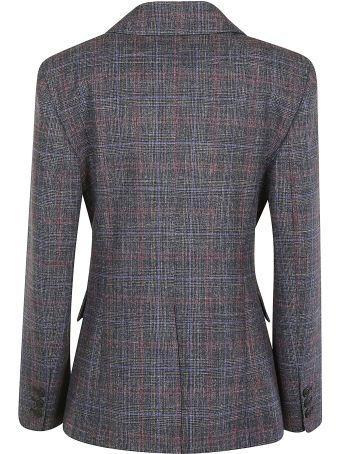 Alberta Ferretti Checked Double-breasted Blazer