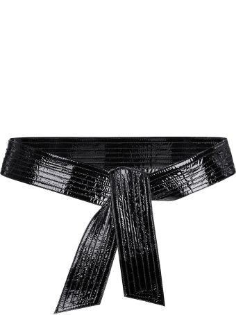 Givenchy Bow Leather Belt