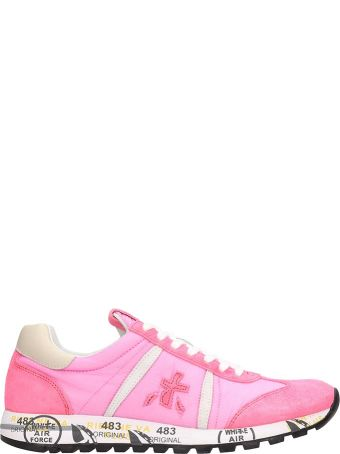 Premiata Suede And Fabric Fuchsia Lucy Sneakers