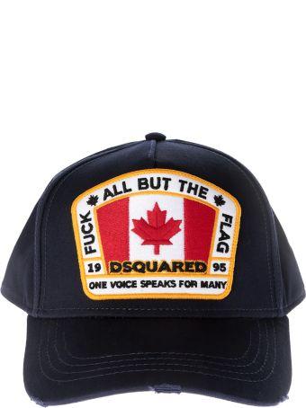 Dsquared2 Flag Patch Baseball Cap