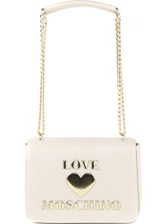 Love Moschino Ivory Color Pvc Shoulder Bag