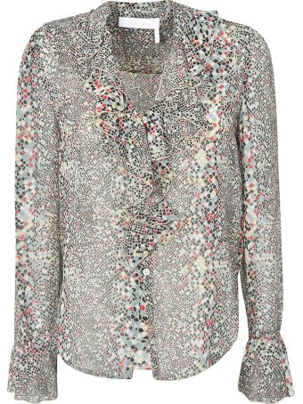 See by Chloé All-over Print Ruffled Top