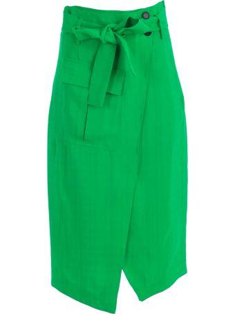 SEMICOUTURE Erika Cavallini Tie Skirt
