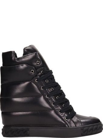 Casadei Sneakers In Black Quilted Leather