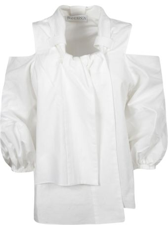 J.W. Anderson Jw Anderson Cropped Puff Sleeve Blouse