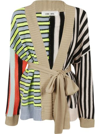 Circus Hotel Striped Patchwork Cardigan