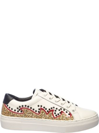 Moa Collection MOA USA Glittery And Crystal Embellished Sneakers