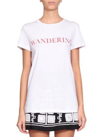 WANDERING Cotton Logo T-shirt