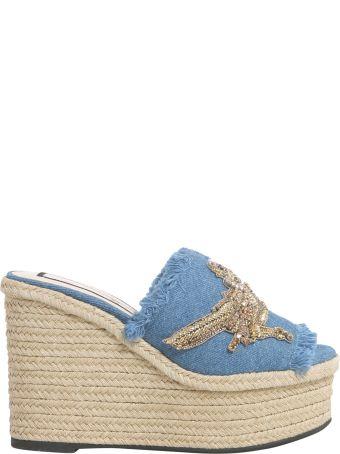 N.21 Denim Mule Sandals