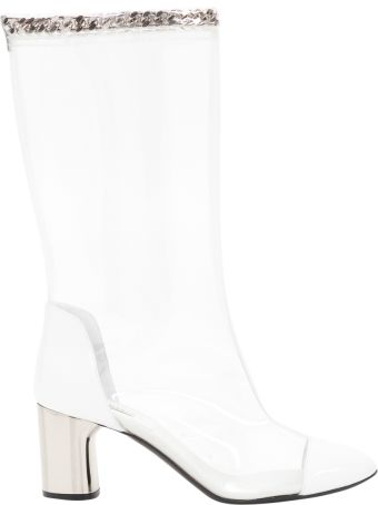 Casadei Transparent Boots With Chain