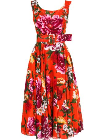 "Samantha Sung dress ""Aster Dress Boat Neck Midi Length Cotton Musola"""