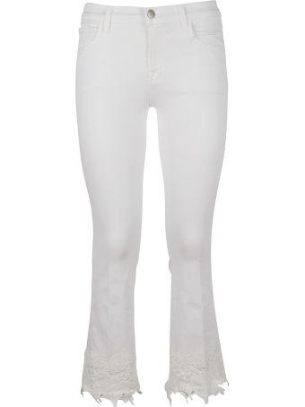 J Brand Jbrand Lace Trimmed Jeans
