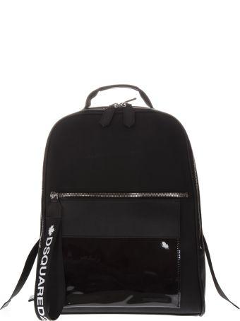 Dsquared2 Black Fabric Logo Backpack