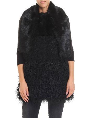 Trussardi Jeans Fur-trimmed Coat