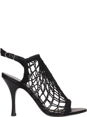 Sonia Rykiel Black Canvas Sandals