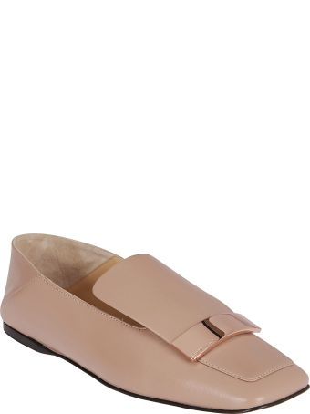 Sergio Rossi Pink Leather Sr1 Loafers