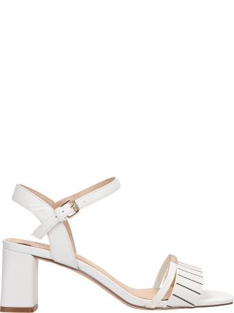 Bibi Lou White Patent Leather Sandals