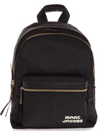 Marc Jacobs Black Medium Backpack In Leather