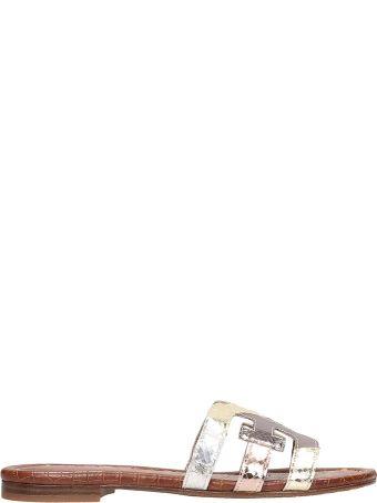 72a2b48edc91c3 Sam Edelman Silver Laminated Leather Bay Sandals