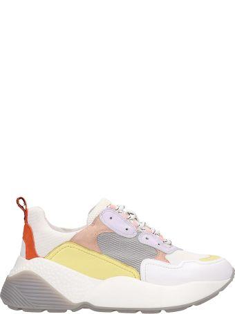 Lola Cruz White Technical Fabric Running Sneakers