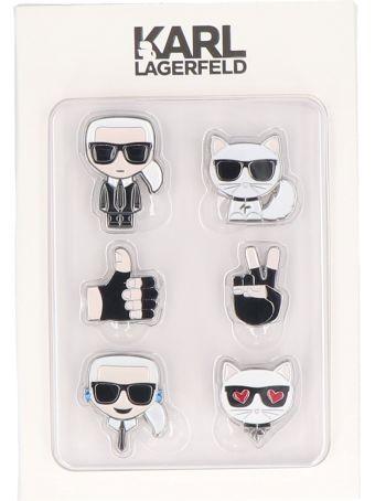 Karl Lagerfeld 'k/ikonik' Pin