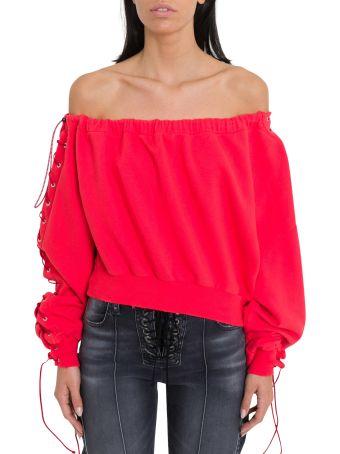 Ben Taverniti Unravel Project Off-the-shoulder Sweatshirt
