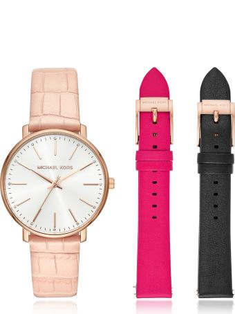 Michael Kors Pyper Leather Watch Set