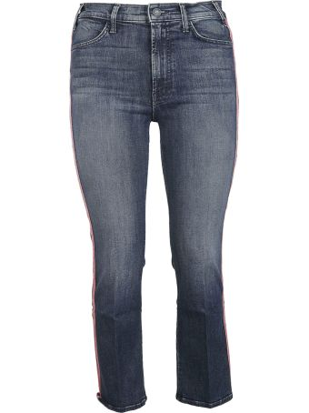Mother Cropped Side Striped Jeans