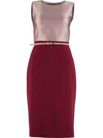 Max Mara Studio Fiorito Belted Sheath Dress