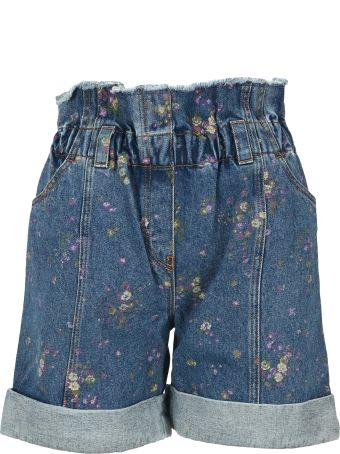 Philosophy di Lorenzo Serafini Philosophy Floral-print Denim Shorts