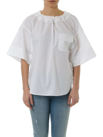 Golden Goose Anne Top In White Cotton