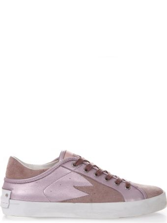 Crime london Rose Sneakers In Metallic Leather And Suede