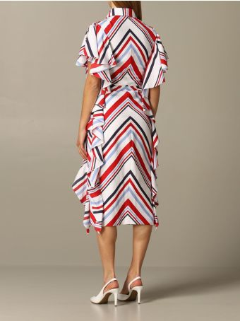 Stella Jean Dress Stella Jean Striped Dress With Ruffles