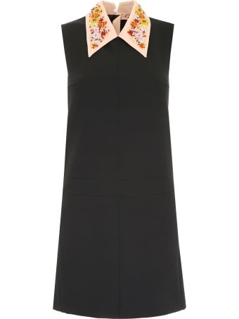 N.21 Dress With Embellished Collar