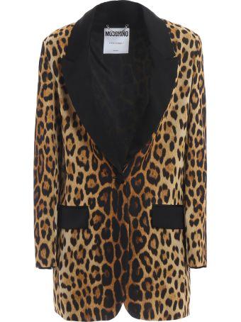 Moschino Leopard Print Blazer