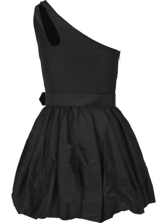 self-portrait Self Portrait Asymmetric Taffeta Mini Dress