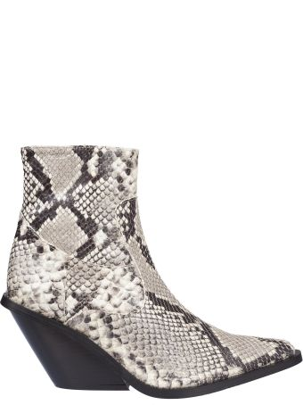 GIA COUTURE Python Effect Boots