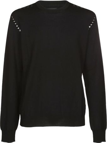 Les Hommes Eyelets Detail Sweater