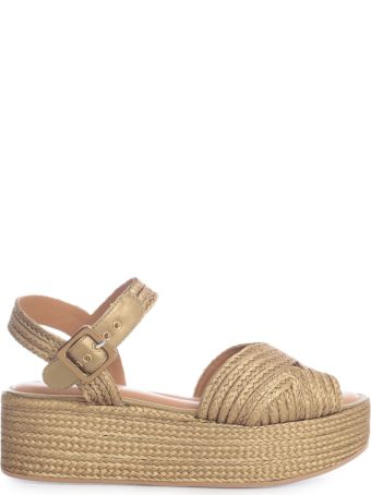 Clergerie High Open Toe Sandals Nappa W/belt On Ankle