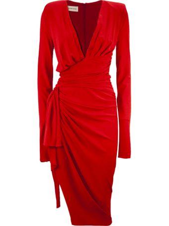 Alexandre Vauthier Red Viscosa Stretch Dress